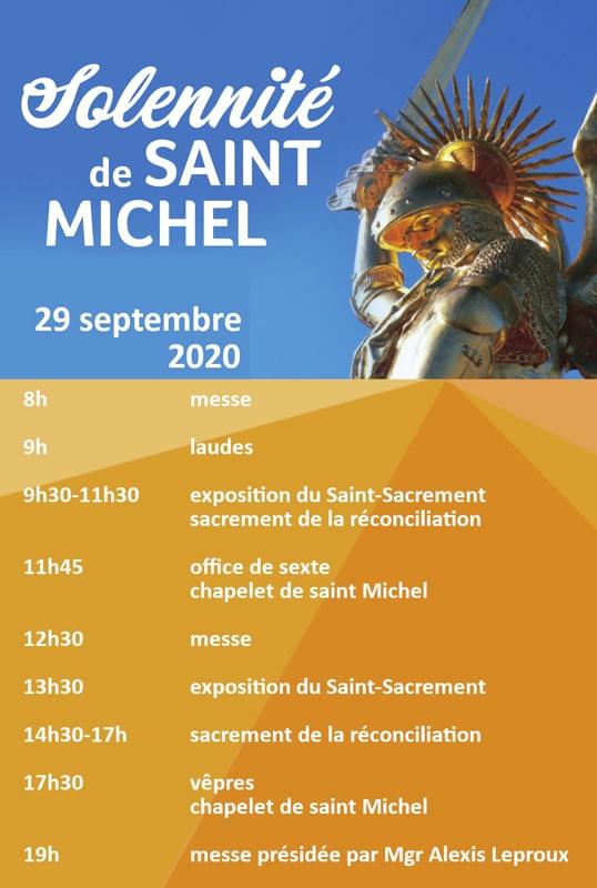 Fete de saint Michel Programme